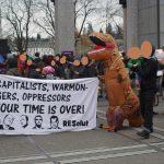 Hunderte demonstrieren in Luzern gegen das WEF