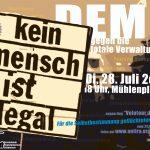 Demo, 28.7.2020, 18:00 Uhr, Mühlenplatz Luzern